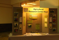 KSU Ag Research booth at Water & Energy Festival in Hays on Oct. 12th.