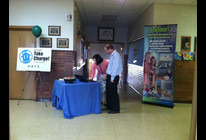 Holy Family Parent Teacher night - promoting TCC and Midwest Energy How